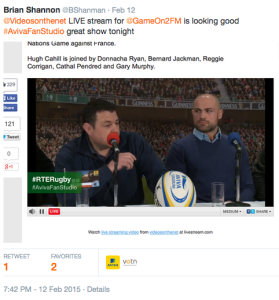 GameOn online view